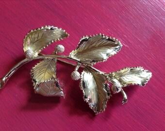 1950s Brooch / Signed Coro Brooch / Thistle Flower Brooch / Vintage Brooch