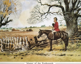 Thelwell Bookplate Master of the Foxhounds, Mounted and Framed