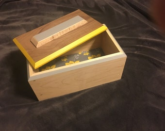 Maple and Walnut box