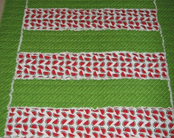 Framed Strips Rag Quilt Mailed Paper Pattern by Sew Practical, Mom and Pop Craft