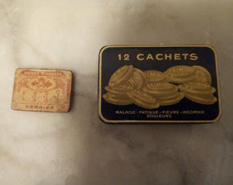 2 metal 30s collectible boxes
