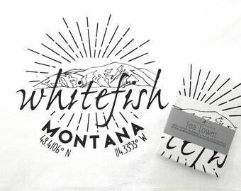Whitefish Tea Towel