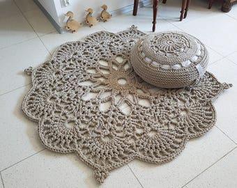 Floor Rug Crochet Rug Carpet, Floor Mat Rug Carpet, Area Rug Decorative Rug