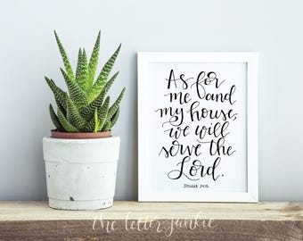 As For Me and My House Art Print