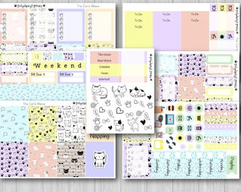 The Cat's Meow Vertical Weekly Planner Kit