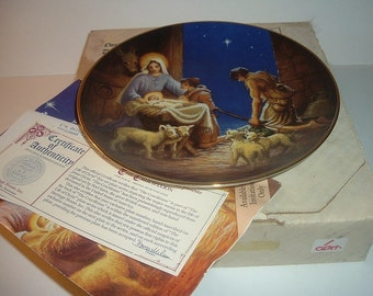 1987 Heritage House Adoration of the Shepherds Life of Christ Plate w/ COA and Box
