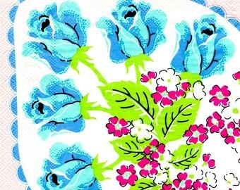 2 blue flower (297) paper napkins