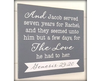 Scripture Quote Sign, Custom Sign, Bible Reference Wood Sign, Religious Gift, Genesis Quote, Custom Colors, Custom Quote, LDS Decor