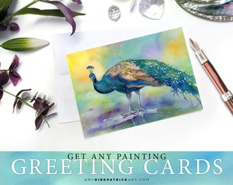Greeting Cards, Pack of 5, 5x7, Pick any paintings from this shop, Custom Pick 5 Pack of Cards, Note Cards, Blank Inside