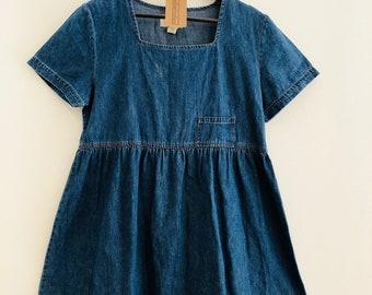 90s vintage denim babydoll / empire waist dress, fits m