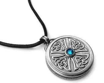 Celtic Cross Mens Necklace, Stainless Steel Pendant, As Seen on The Vampire Diaries, Exclusive Design
