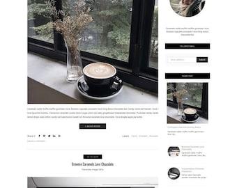 Responsive Premade Blogger Template - Minimalist Design - Photography Blog - Fashion Blog - Slider -Theme Blogspot