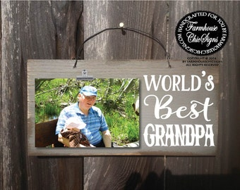 gift for grandpa, grandpa gift, world's best grandpa, grandpa picture frame, Christmas gift for grandpa, Father's day gift, 226