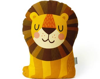 Lion Cushion, Lion pillow, Lion soft toy, cuddly toy, plushie