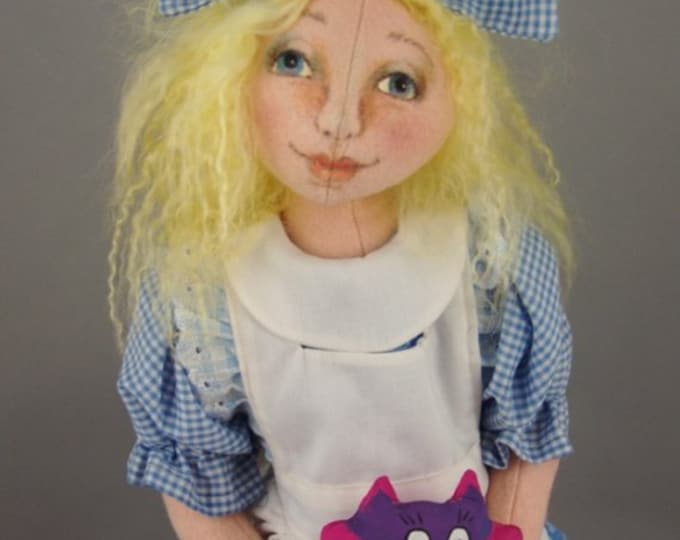 PL822E - Alice PDF Cloth Doll Making Download Sewing Pattern