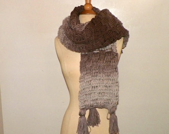 Brown Scarf Super Blanket Giant Wrap Shawl Stole Oversized Extra Long Winter Chunky Cowl Womens
