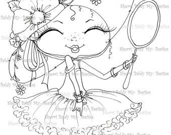 INSTANT DOWNLOAD Digital Digi Stamps Big Eye Big Head Dolls Digi   Besties Fancy Pants Besties IMG362 By Sherri Baldy