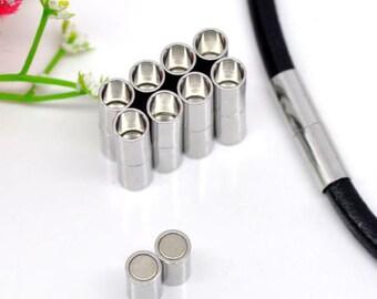Magnetic Barrel Clasps - 20 x 5 mm | 0260 | Magnetic Bracelet Claps | Clasps | Bracelet End Claps | Magnetic Bracelet Ends | 0260