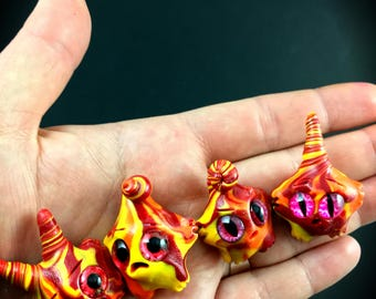 Fire Elemental Worry Wart // anxiety worry doll cute meditation relaxation therapy depression mental health