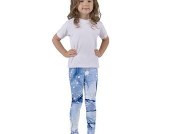 Blue Abstract Art Kid's leggings