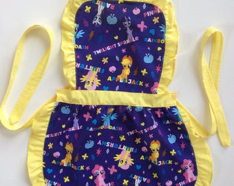 Kids Handmade Apron, Play Apron, Child Apron, Toddler Apron, Kids Tea Party Apron, Little Girl Apron, Kids Pinny birthday dressup