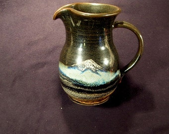Mount Saint Helens Cream Pitcher by Wendt Pottery