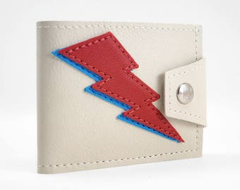 2 Bolts Red and Blue Limited Edition Handmade Wallet