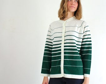 Plus Size Sweater - Striped XL Cardigan