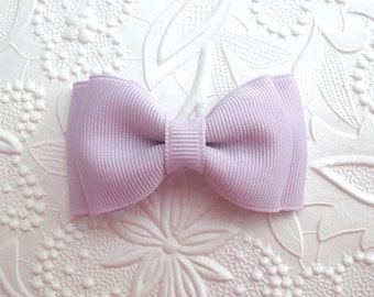 "Pastel Lavender Hair Bow ~Toddler Girls 3"" Hair Bow Clippie"