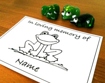 50 Personalized In Loving Memory Of Ex Libris Bookplates Frog