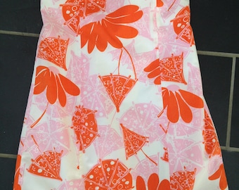 Beautiful Lilly Pulitzer Orange and Pink Strapless Dress