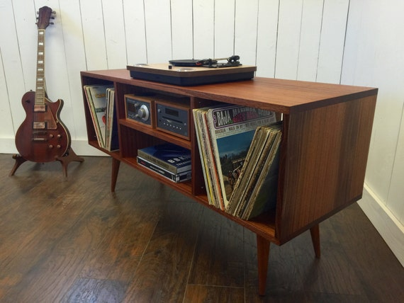 Mid Century Modern Stereo Turntable Console Record Player