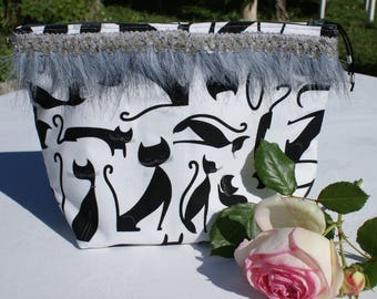 pouch pattern cats