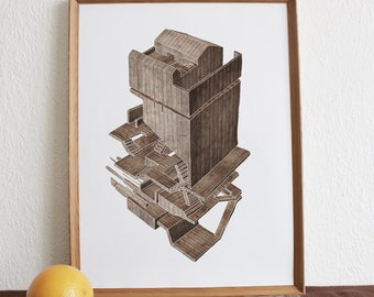 Woodhouse 1 - Print A3