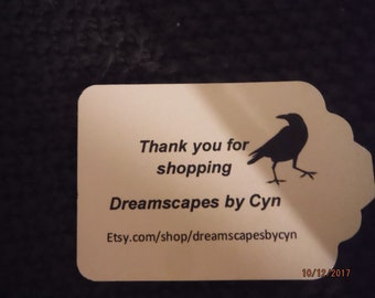 Custom Printed Shop Tags Tag shaped -- SteviesScratchpad