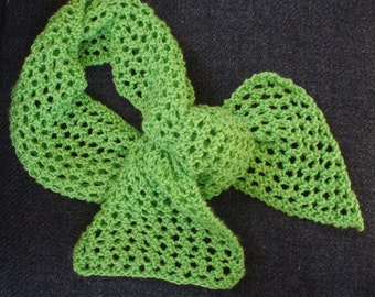 SALE - Bright Lime Neon Spring Green Super Soft Knit Scarf Lightweight