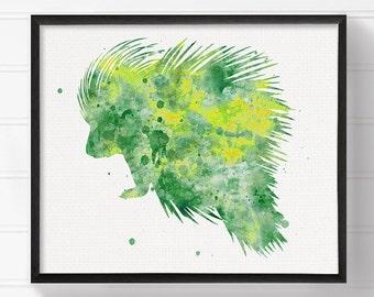 Watercolor Porcupine, Porcupine Print, Porcupine Art, Porcupine Painting, Porcupine Poster, Woodland Nursery Decor, Kids Room Wall Art