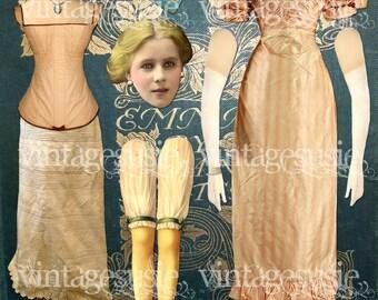EMMA WOODHOUSE from Jane AUSTEN 'Emma' Digital Paper Doll Collage Sheet digital download