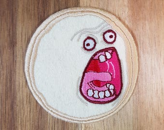 Screaming Sun Rick + Morty Fan Art Sew-On Patch