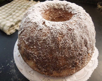 "Pound Cake-butter-rich-moist-embraced with Brandy 9"" Bundt size cake-blend of pure extracts-perfect gift for her,family,holiday presentation"