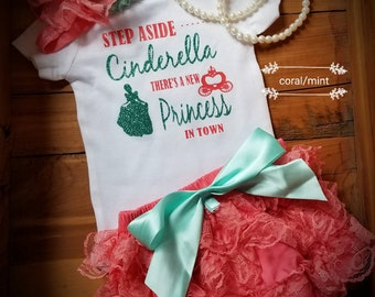 Step aside Cinderella there's a new Princess in town.  Princess outfit. ruffle diaper cover