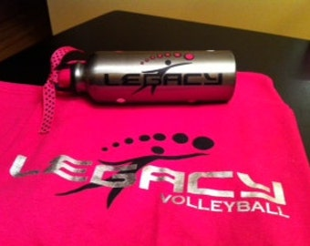 Personalized Custom Team Sports Volleyball Water Bottle