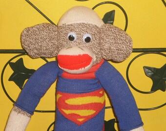 red heel sock monkey Superman
