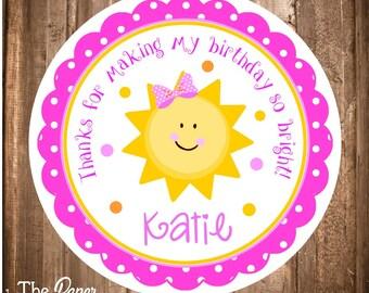 You Are My Sunshine Favor Tags, Printable You are my Sunshine Stickers,Sunshine Birthday Party