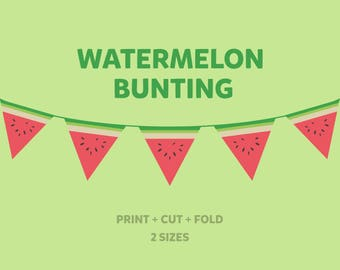 Watermelon Bunting, Printable Party Garland
