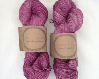 Clover ~ Lichen and Lace Hand Dyed Yarn