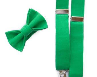 Green Bow Ties for Boys - Baby Boy Bow tie - Pre-tied Bow Ties for Toddler - Wedding Ties - Baby Boys Green tie - Boys Holiday Bowtie