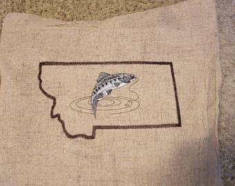 Fly Fishing Montana Pillow