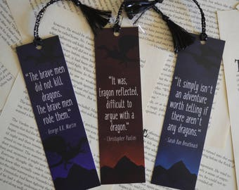Dragon Lover Quotes Bookmarks - Bookmarks for Dragon Fans!