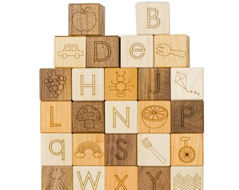 Alphabet Picture Wooden Blocks